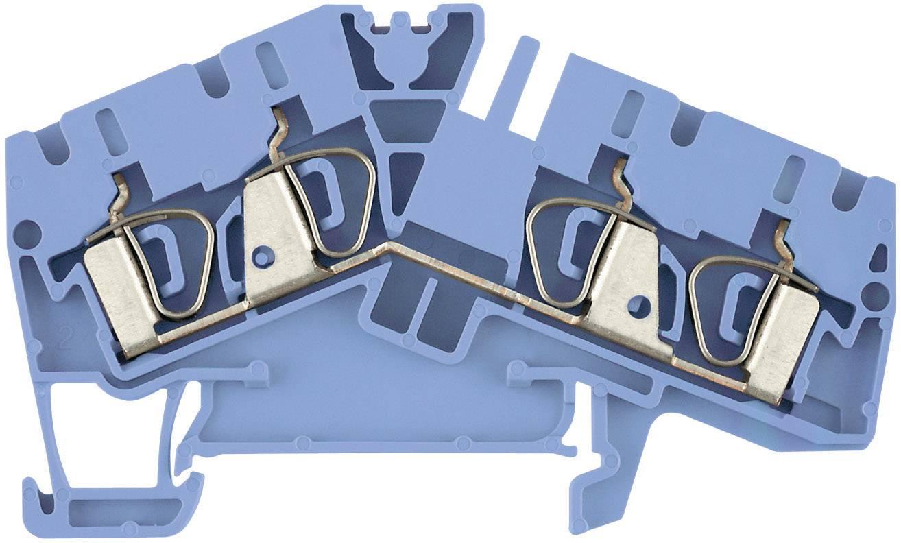 Průchozí svorka řadová Weidmüller ZDU 2.5-2/4AN BL (1706070000), 5,1 mm, atolově modrá