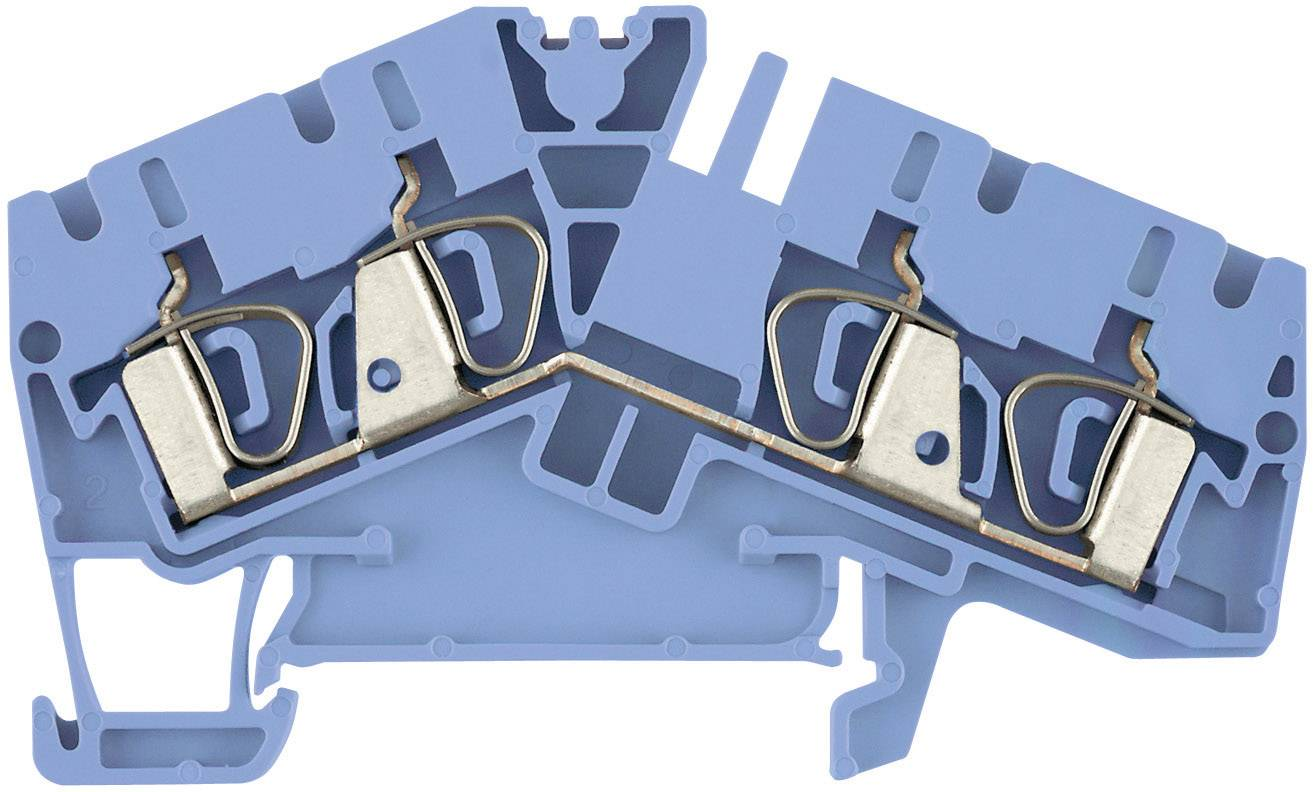 Průchozí svorka řadová Weidmüller ZDU 6-2/3AN BL (1771420000), 5,1 mm, atolově modrá