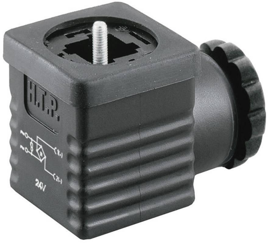 Ventilový konektor s usměrňovačem HTP G1NU2RV1-H (G1NU2RV1), IP65 (namontované), černá