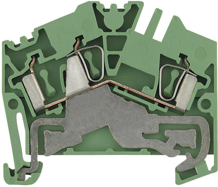 Svorka řadová s ochr. vodičem Weidmüller ZPE 2.5-2/3AN (1706090000), 5,1 mm, zelenožlutá