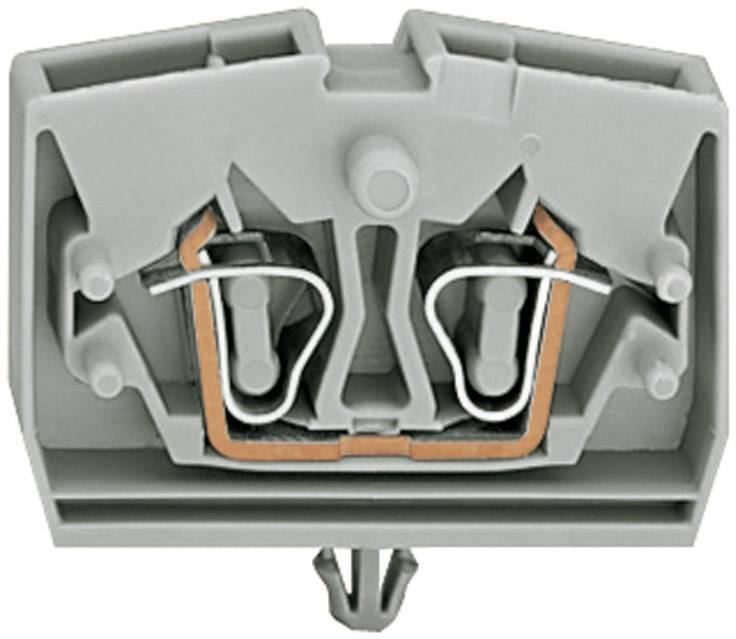 Svorka 2vodičová Wago 264-311, se zajišťovací vložkou, pružinová, 6 mm, šedá
