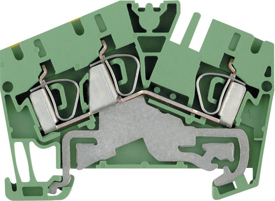 Svorka řadová s ochr. vodičem Weidmüller ZPE 4-2/3AN (1770390000), 6,1 mm, zelenožlutá
