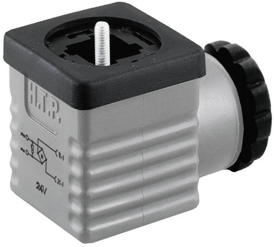 Ventilový konektor s usměrňovačem HTP G1GU2RV1-H (G1GU2RV1), IP65 (namontované), šedá