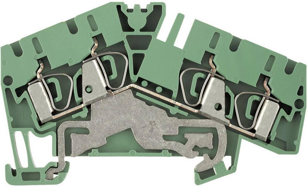 Svorka řadová s ochr. vodičem Weidmüller ZPE 4-2/4AN (1807090000), 6,1 mm, zelenožlutá