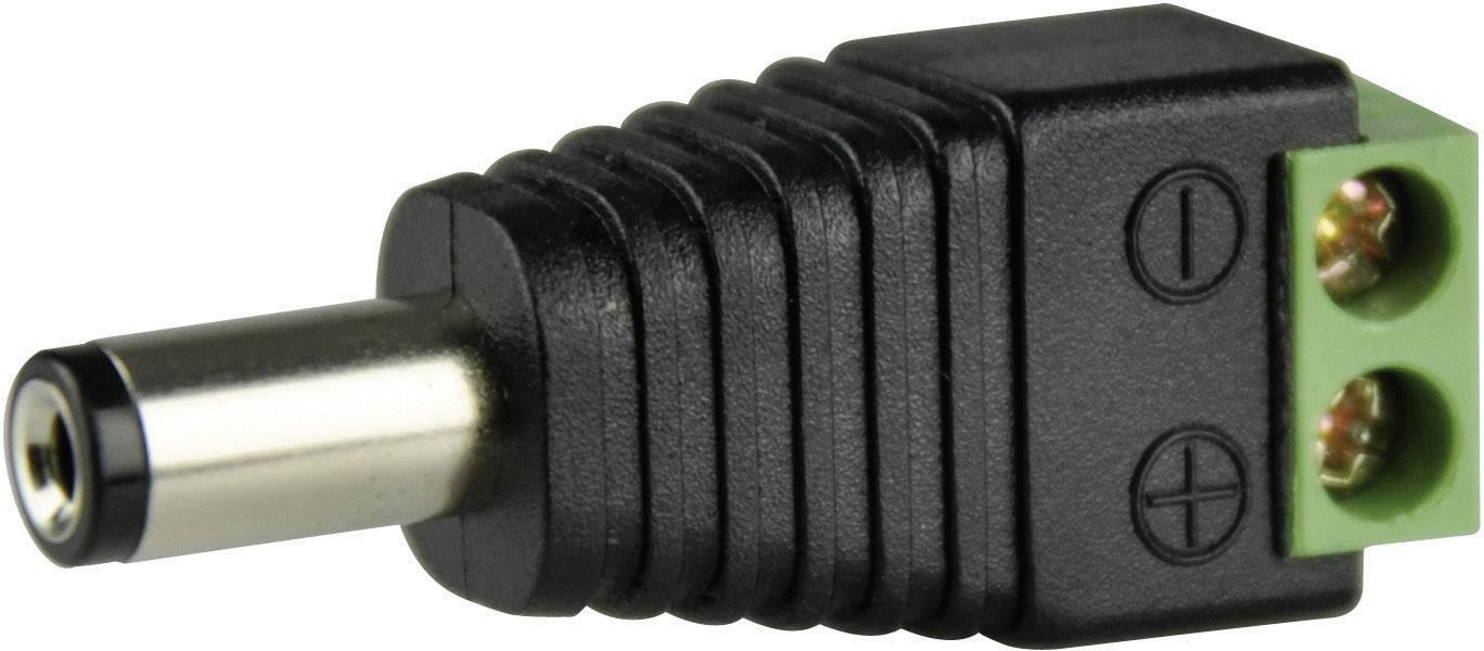 Napájecí konektor ABUS TVAC35800, zástrčka rovná, 5,5/2,1 mm