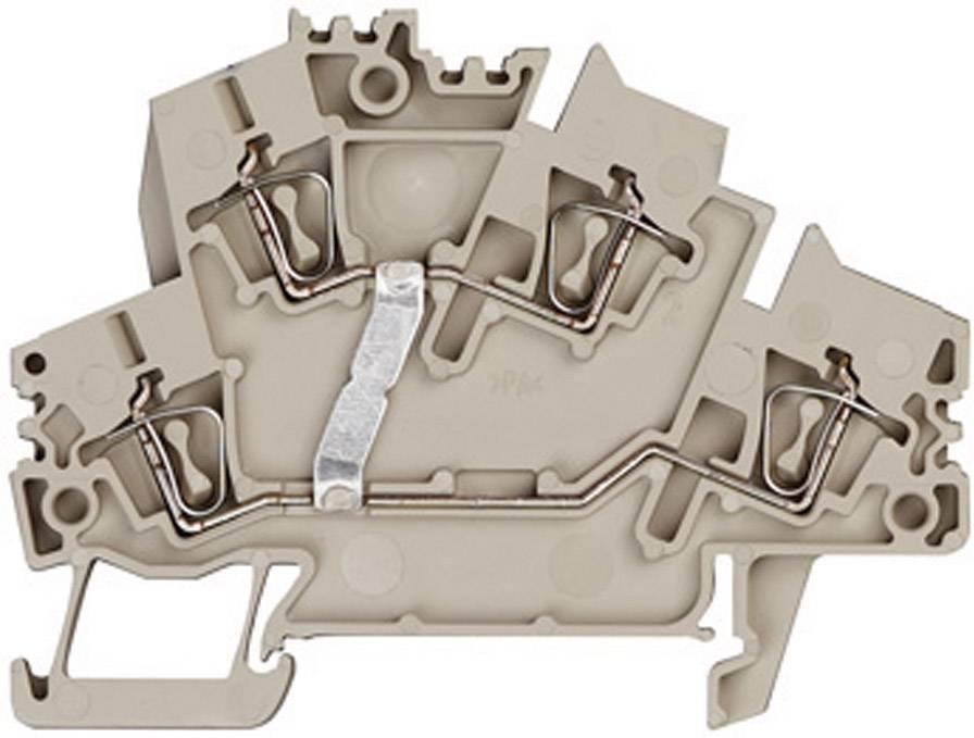 Vícenás. řadová svorka Weidmüller ZDK 2.5-2V (1791030000), 5,1 mm, béžová