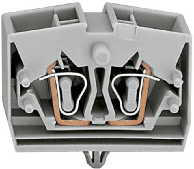 Svorka 4vodičová Wago 264-341, se zajišťovací vložkou, pružinová, 10 mm, šedá