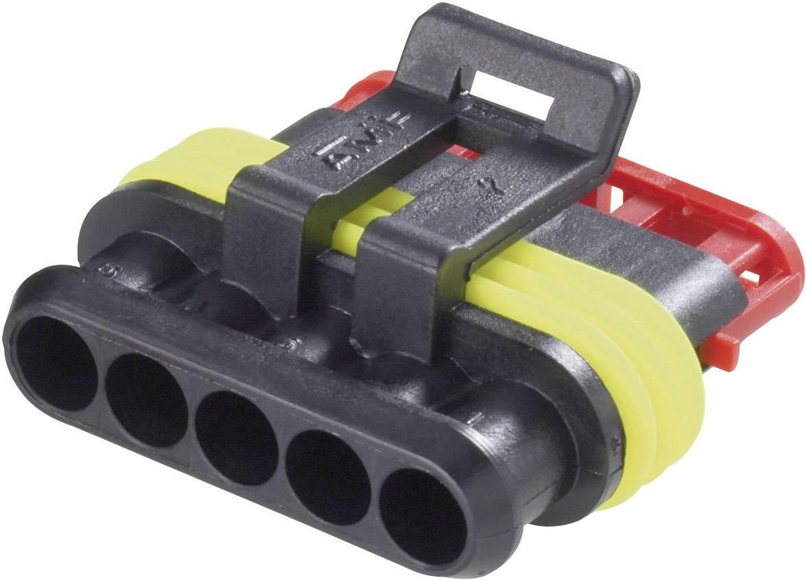 Zásuvkové púzdro na kábel TE Connectivity 282089-1, počet pólov 5, raster 6 mm, 1 ks