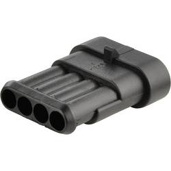 Zástrčkový konektor na kábel TE Connectivity 282106-1 282106-1, 42 mm, pólů 4, rozteč 6 mm, 1 ks