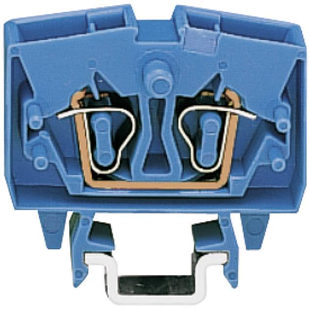Průchozí svorka Wago 264-704, pružinová, 6 mm, modrá