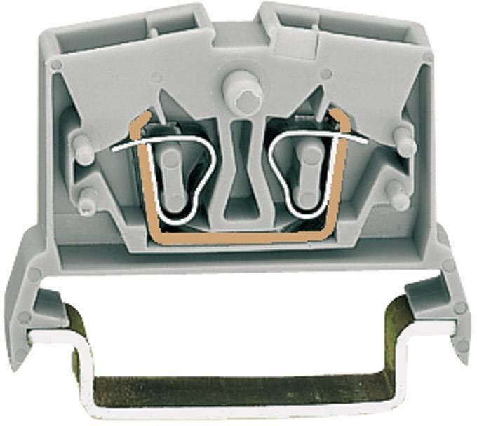 Průchozí svorka Wago 264-711, pružinová, 6 mm, šedá