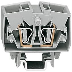 Průchozí svorka Wago 264-721, pružinová, 10 mm, šedá