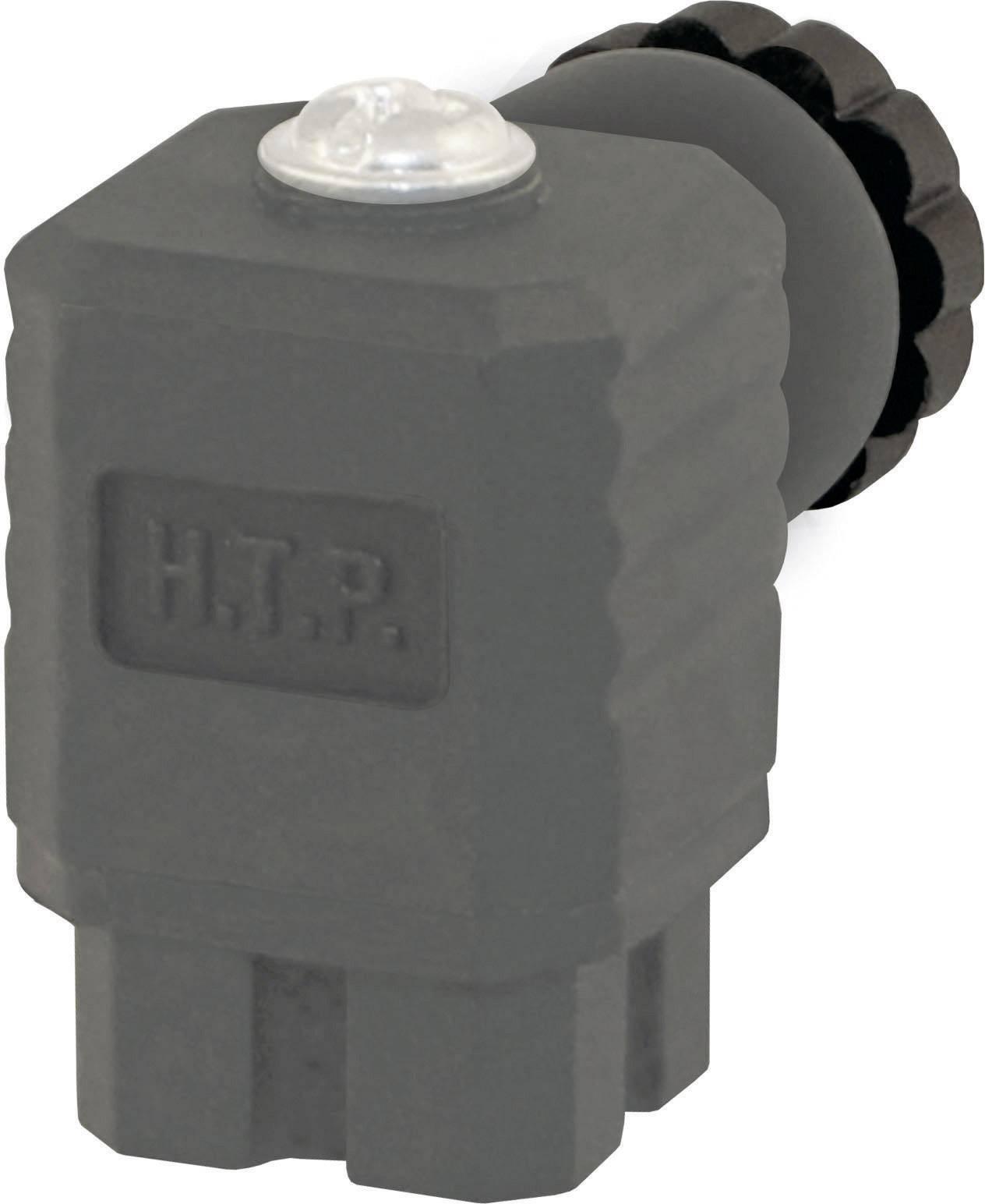 Ventilový konektor serie P3 HTP P3GZ4000-6WG, IP65 (namontované), černá