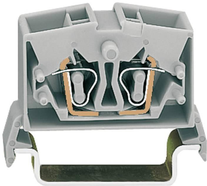 Priechodná svorka WAGO 264-731, osadenie: L, pružinová svorka, 10 mm, sivá, 1 ks