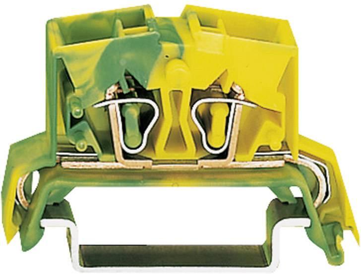 Svorka s ochr. vodičem Wago 264-737, 4pól., pružinová, 10 mm, zelenožlutá