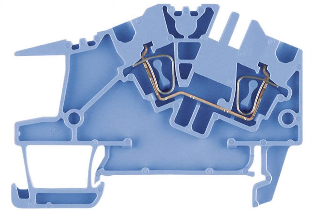 Průchozí svorka řadová Weidmüller ZDU 4 S BL (1808370000), 6,1 mm, modrá