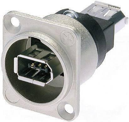 Konektor FireWire Neutrik NA1394-6-W, zásuvka vestavná, niklová