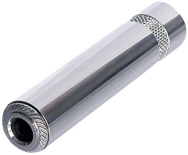 Jack konektor 6.35 mm stereo zásuvka, rovná Rean AV NYS2203P, pinov 3, strieborná, 1 ks