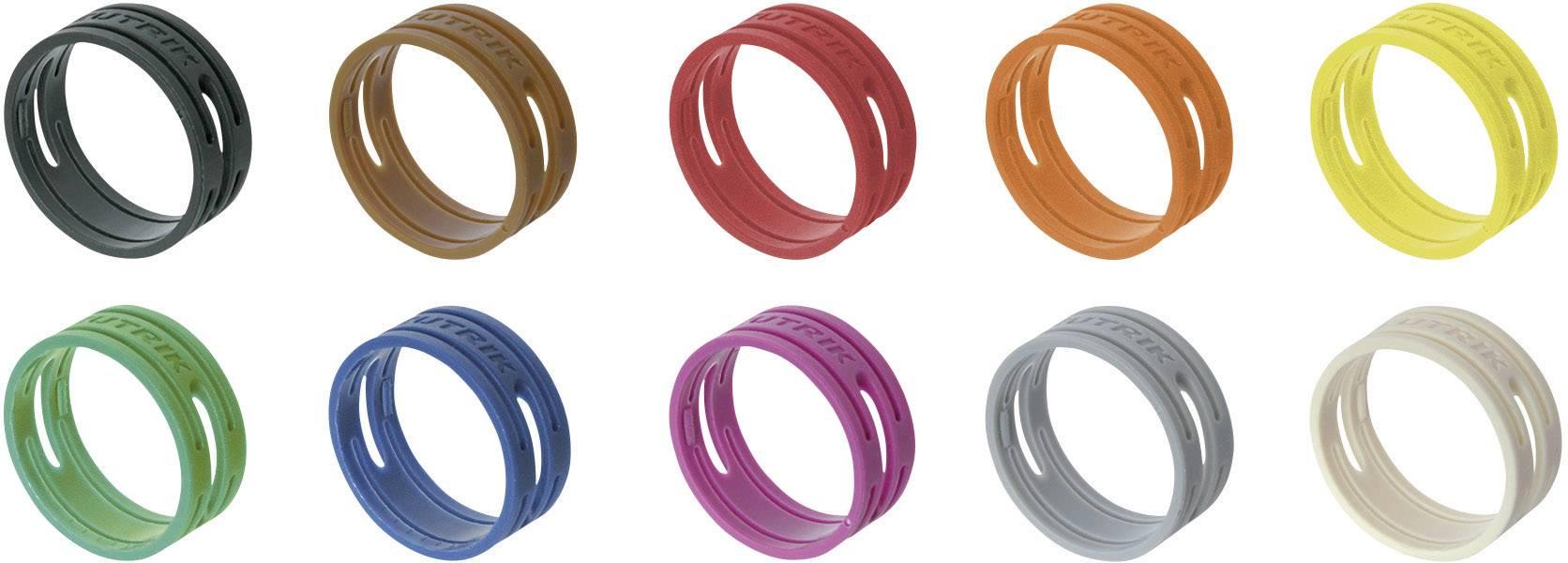 Kódovací krúžok Neutrik XXR-SET/MIX, čierna, hnedá, červená, oranžová, žltá, zelená, modrá, fialová, sivá, biela, 10 ks