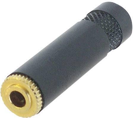 Jack konektor 3.5 mm stereo zásuvka, rovná Rean AV NYS 240 BG, pinov 3, čierna, 1 ks