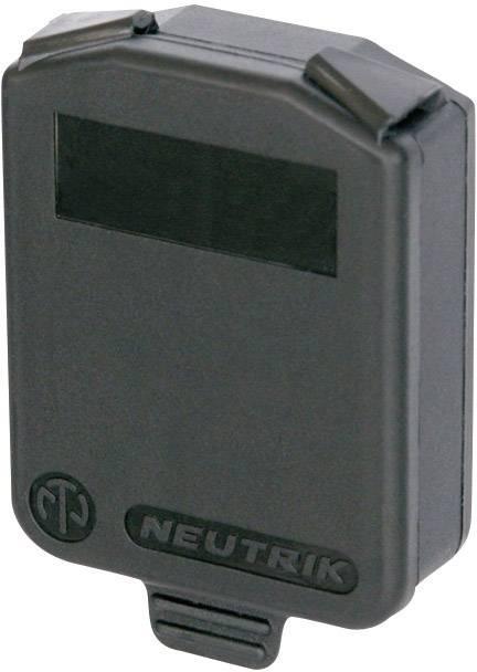 Záslepka Neutrik SCDX, černá, 1 ks