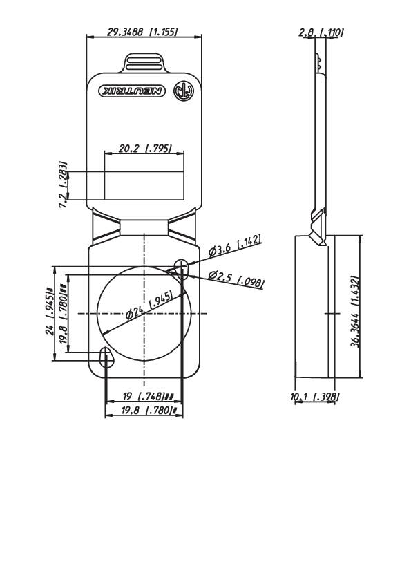 Tesniaca krytka Neutrik SCDX6, modrá, 1 ks