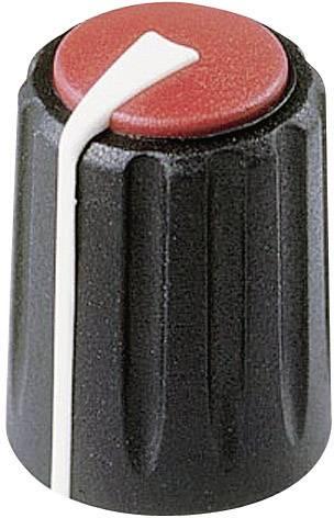 Otočný gombík Rean F 317 S 092, (Ø x v) 17 mm x 17.75 mm, čierna/červená, 1 ks