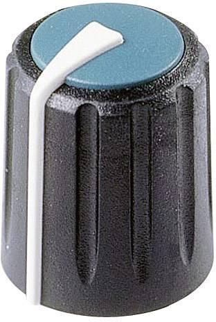 Otočný gombík Rean F 317 S 096, (Ø x v) 17 mm x 17.75 mm, čierna/modrá, 1 ks