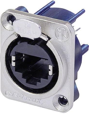 RJ45 zásuvka, rovná Neutrik NE8FDV, niklová, 1 ks