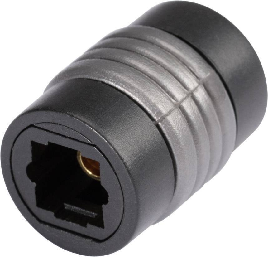 Toslink digitálny audio adaptér Hicon POF-709, čierna
