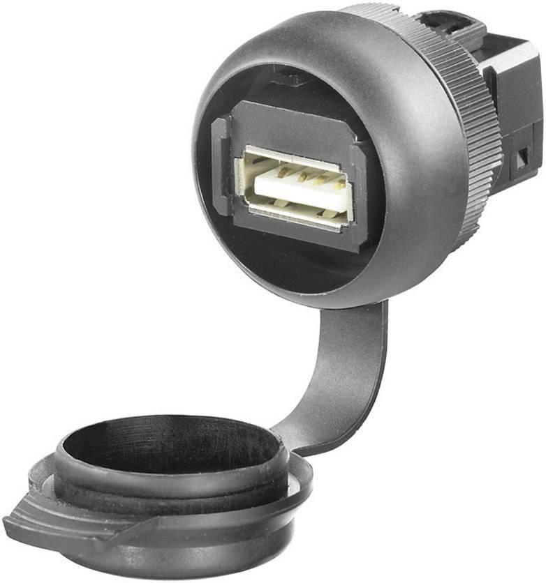 USB 2.0 Weidmüller IE-FCM-USB-A 1018840000, čierna, 1 ks