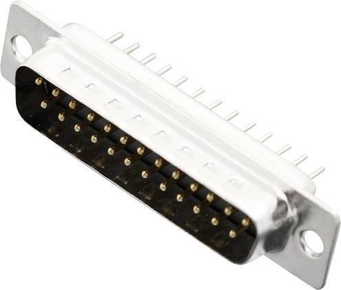 D-SUB kolíková lišta MH Connectors MHDD25-M-T-B-S, 180 °, pólů 25, pájené, 1 ks