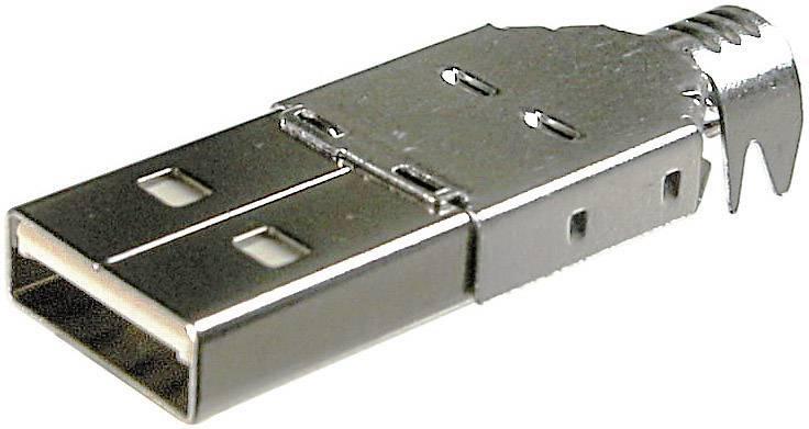 Zástrčka USB 2.0 typ A zástrčka, rovná BKL Electronic 10120098 10120098, 1 ks