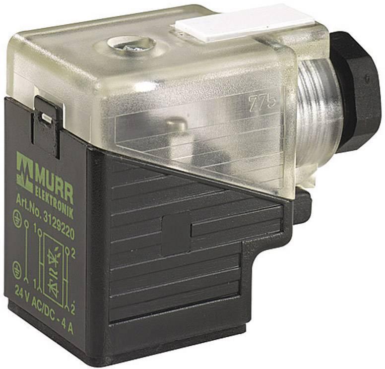 Ventilový konektor Murr Elektronik MSVS (7000-29541-0000000), IP65 (60529), černá/transp.