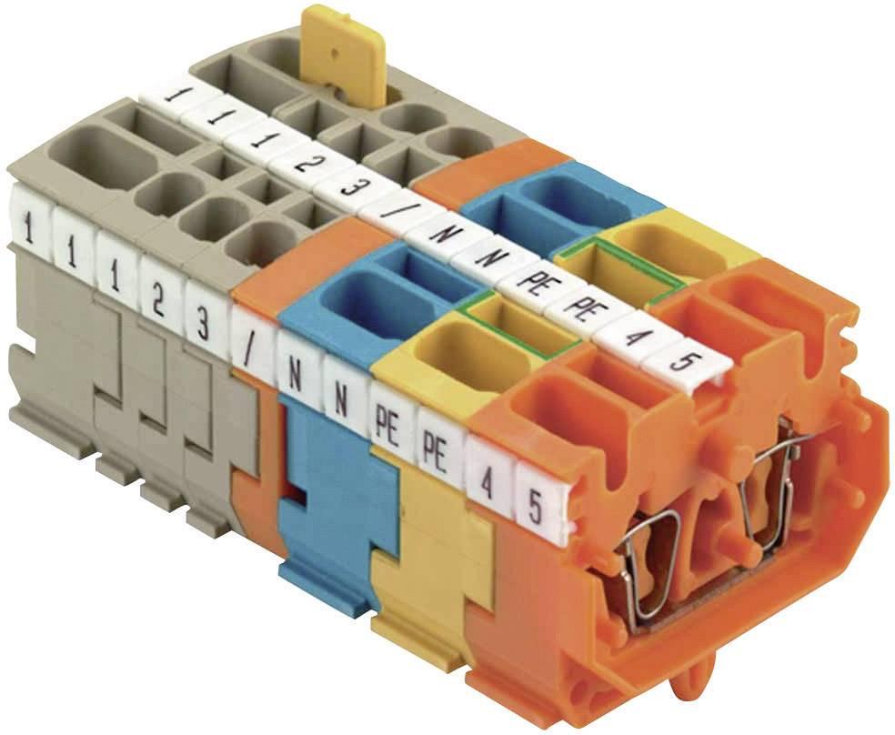 Mini řadová svorka Weidmüller ZDUB 2.5-2/2AN/RC BL (1712830000), 5,1 mm, modrá