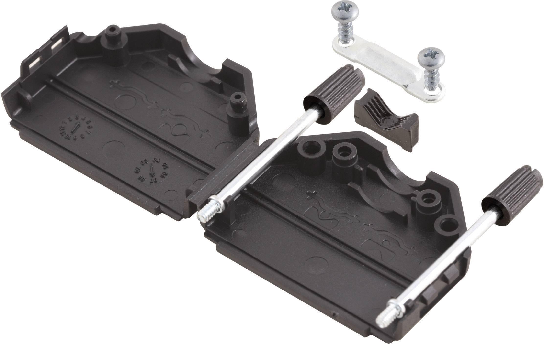 D-SUB púzdro MH Connectors MHDPPK09-BK-K 6260-0101-01, Počet pinov: 9, plast, 180 °, čierna, 1 ks