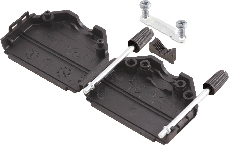 D-SUB púzdro MH Connectors MHDPPK15-BK-K 6260-0101-02, Počet pinov: 15, plast, 180 °, čierna, 1 ks
