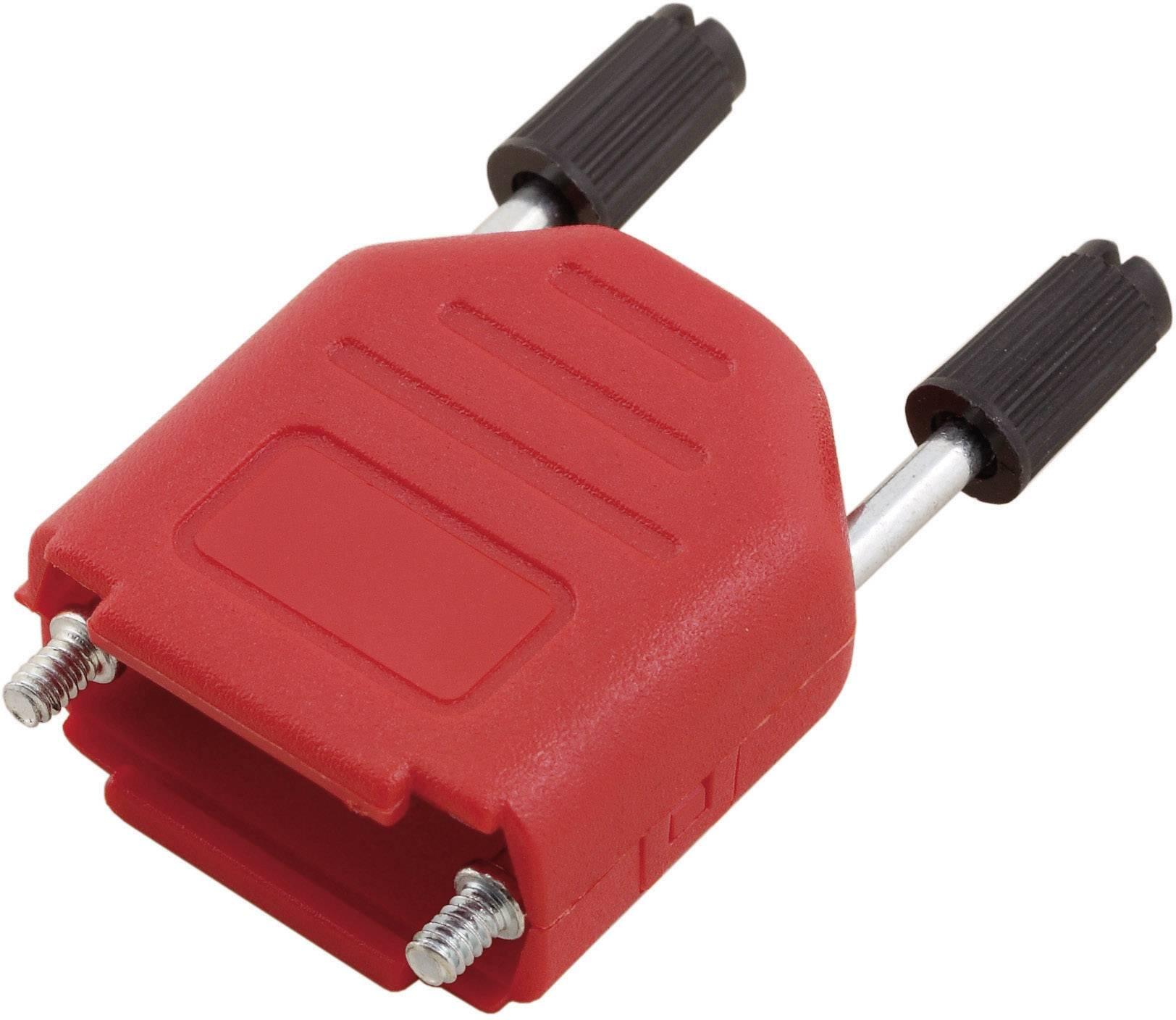 D-SUB púzdro MH Connectors MHDPPK15-R-K 6353-0103-02, Počet pinov: 15, plast, 180 °, červená, 1 ks