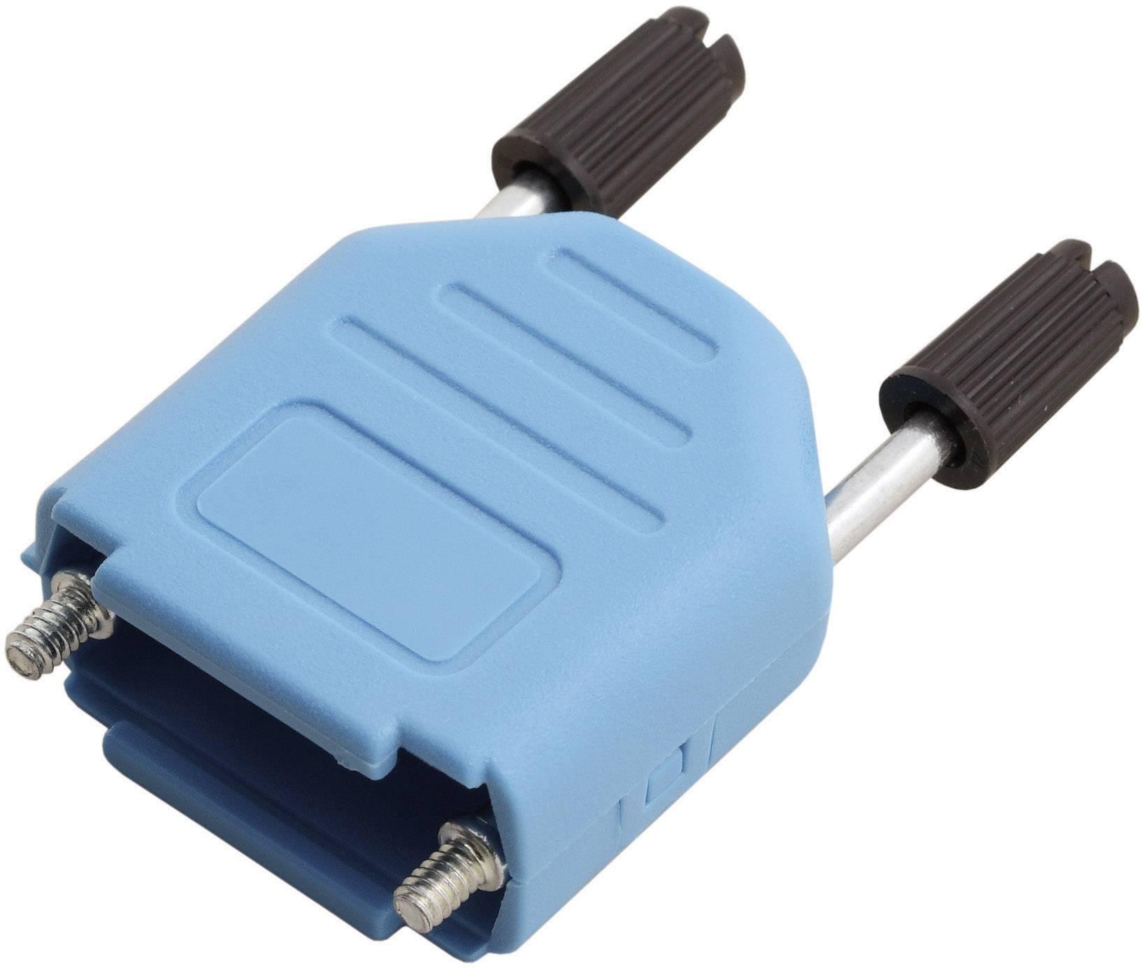 D-SUB púzdro MH Connectors MHDPPK15-B-K 6353-0104-02, Počet pinov: 15, plast, 180 °, modrá, 1 ks
