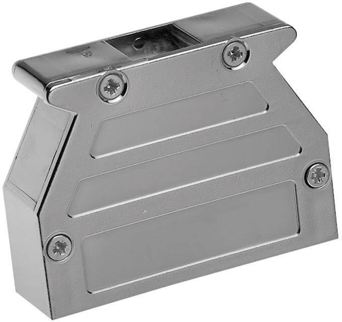 D-SUB púzdro Provertha 07370M4V001 07370M4V001, počet pinov: 37, plast, pokovaný, 180 °, 45 °, 45 °, strieborná, 1 ks