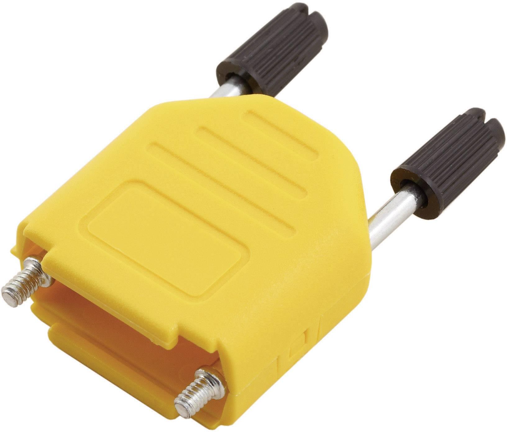 D-SUB pouzdro MH Connectors MHDPPK09-Y-K, Pólů: 9, plast, 180 °, žlutá, 1 ks