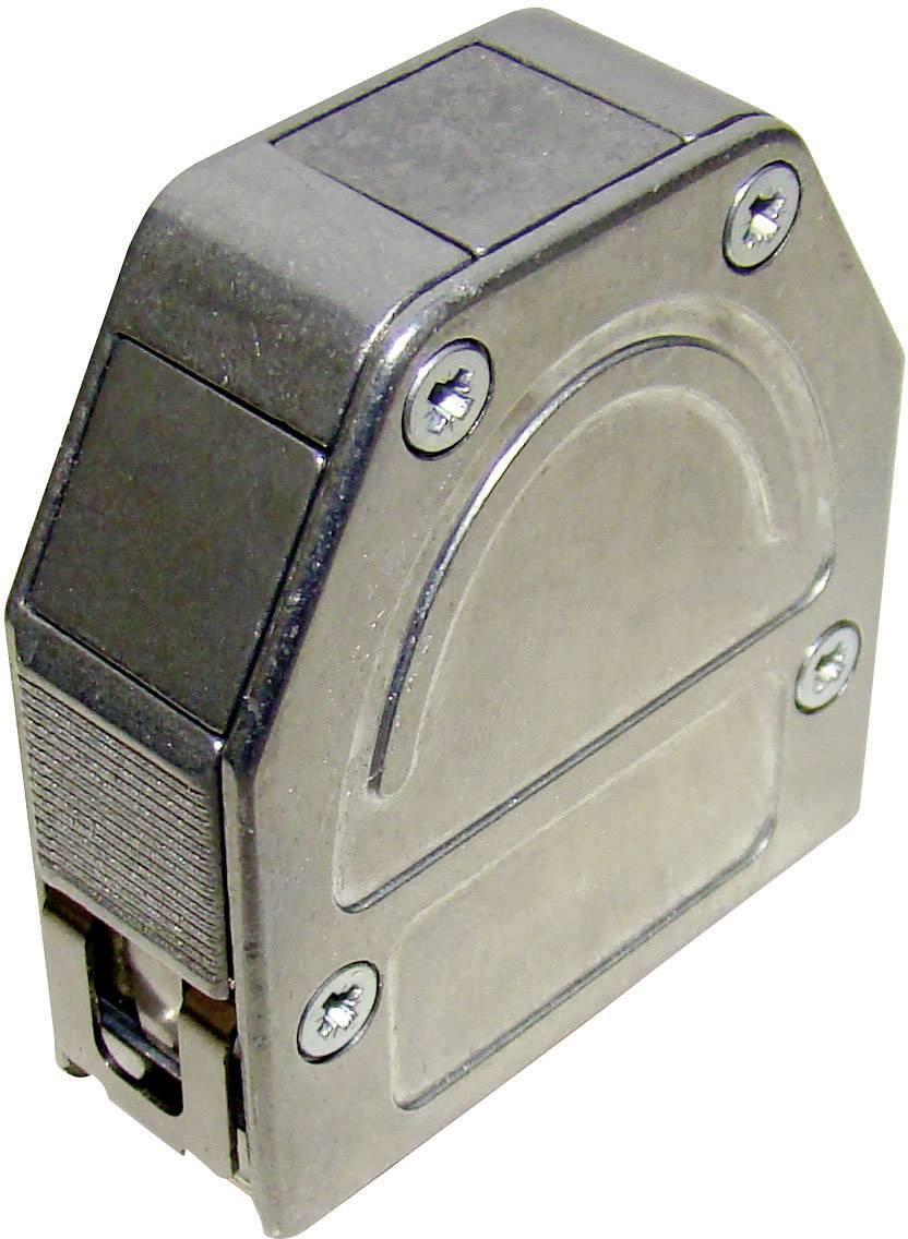 D-SUB púzdro Provertha 103370M001 103370M001, počet pinov: 37, plast, pokovaný, 180 °, 45 °, 45 °, strieborná, 1 ks