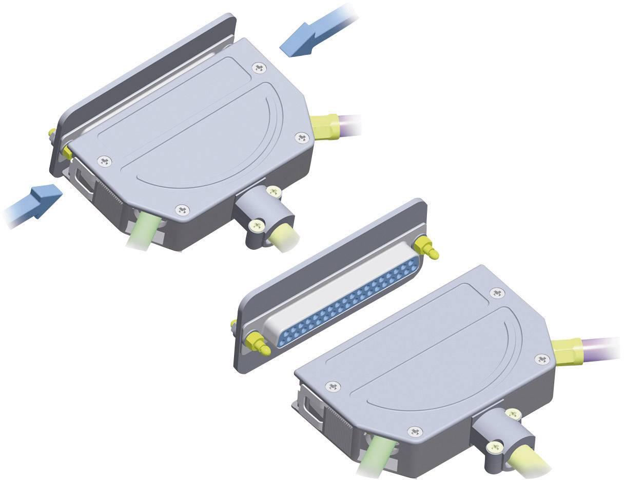 D-SUB pouzdro Provertha 103250M001 103250M001, pólů 25, plast, pokovený, 180 °, 45 °, stříbrná, 1 ks
