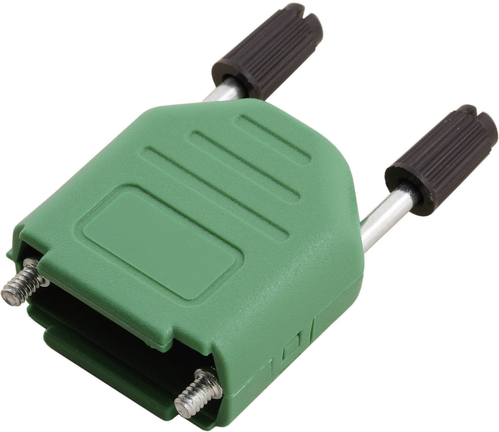 D-SUB púzdro MH Connectors MHDPPK15-G-K 6353-0106-02, počet pinov: 15, plast, 180 °, zelená, 1 ks