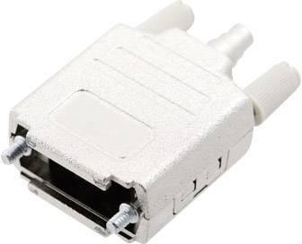 D-SUB púzdro MH Connectors MHDPPK-M-15-K 6260-0105-02, počet pinov: 15, plast, pokovaný, 180 °, strieborná, 1 ks