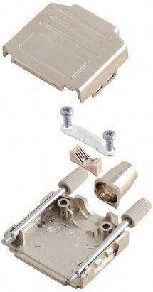 D-SUB púzdro MH Connectors MHDPPK-M-09-K 6260-0105-01, počet pinov: 9, plast, pokovaný, 180 °, strieborná, 1 ks
