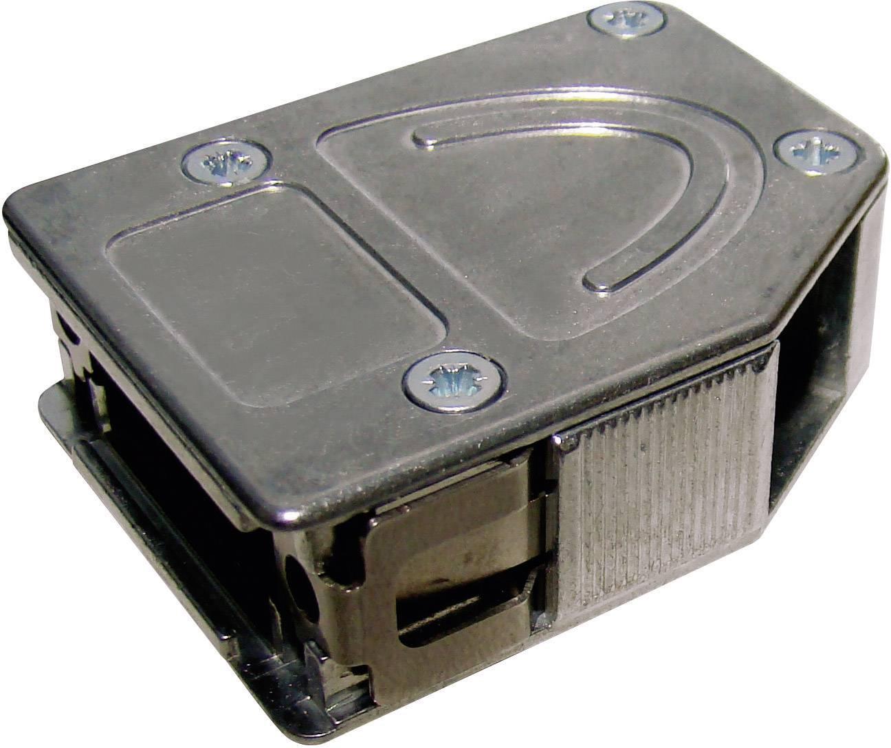 D-SUB pouzdro Provertha 10415DC001 10415DC001, Pólů: 15, kov, 180 °, 45 °, 45 °, stříbrná, 1 ks