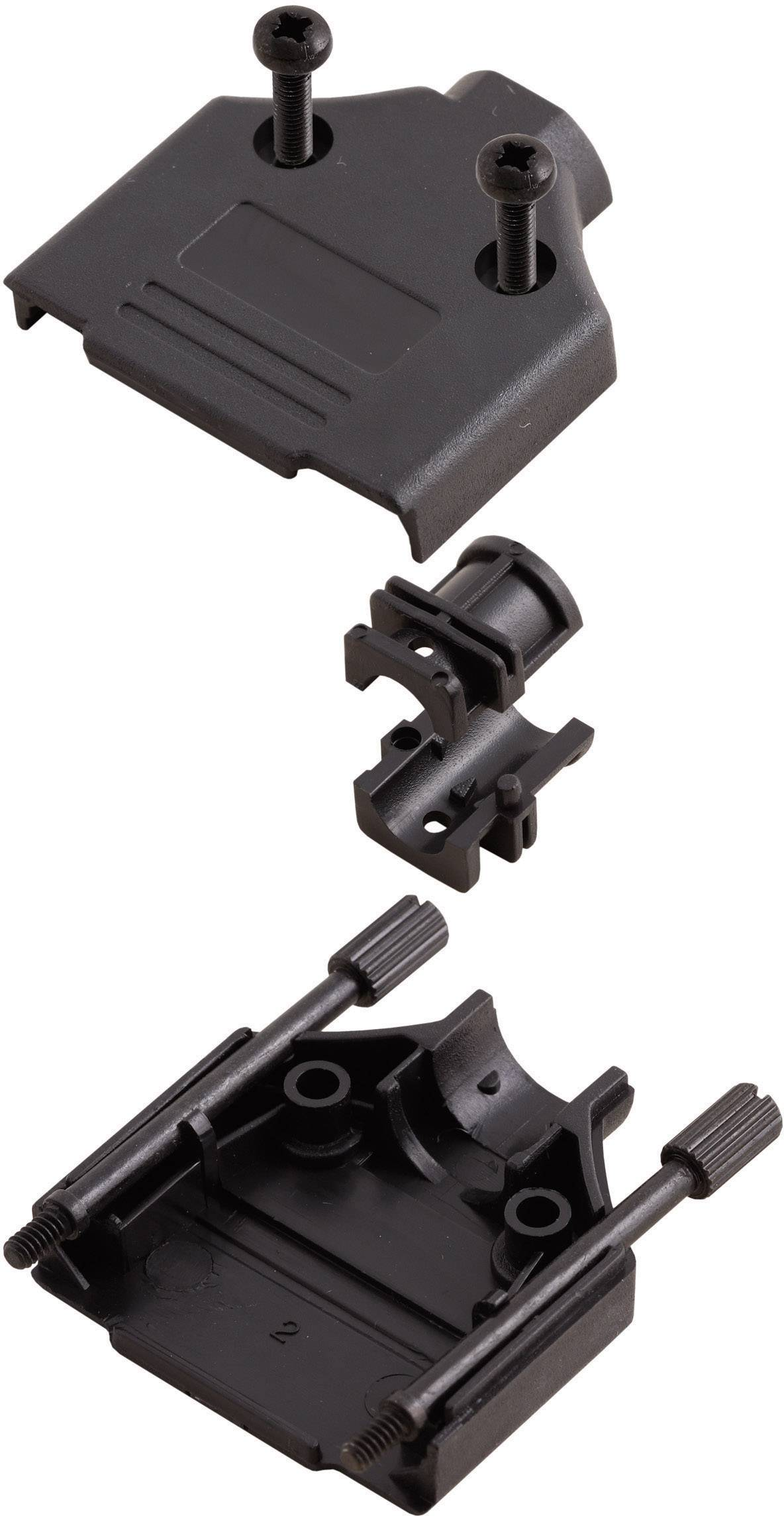 D-SUB púzdro MH Connectors MHDTPPK-09-BK-K 6560-0108-01, Počet pinov: 9, plast, 180 °, čierna, 1 ks