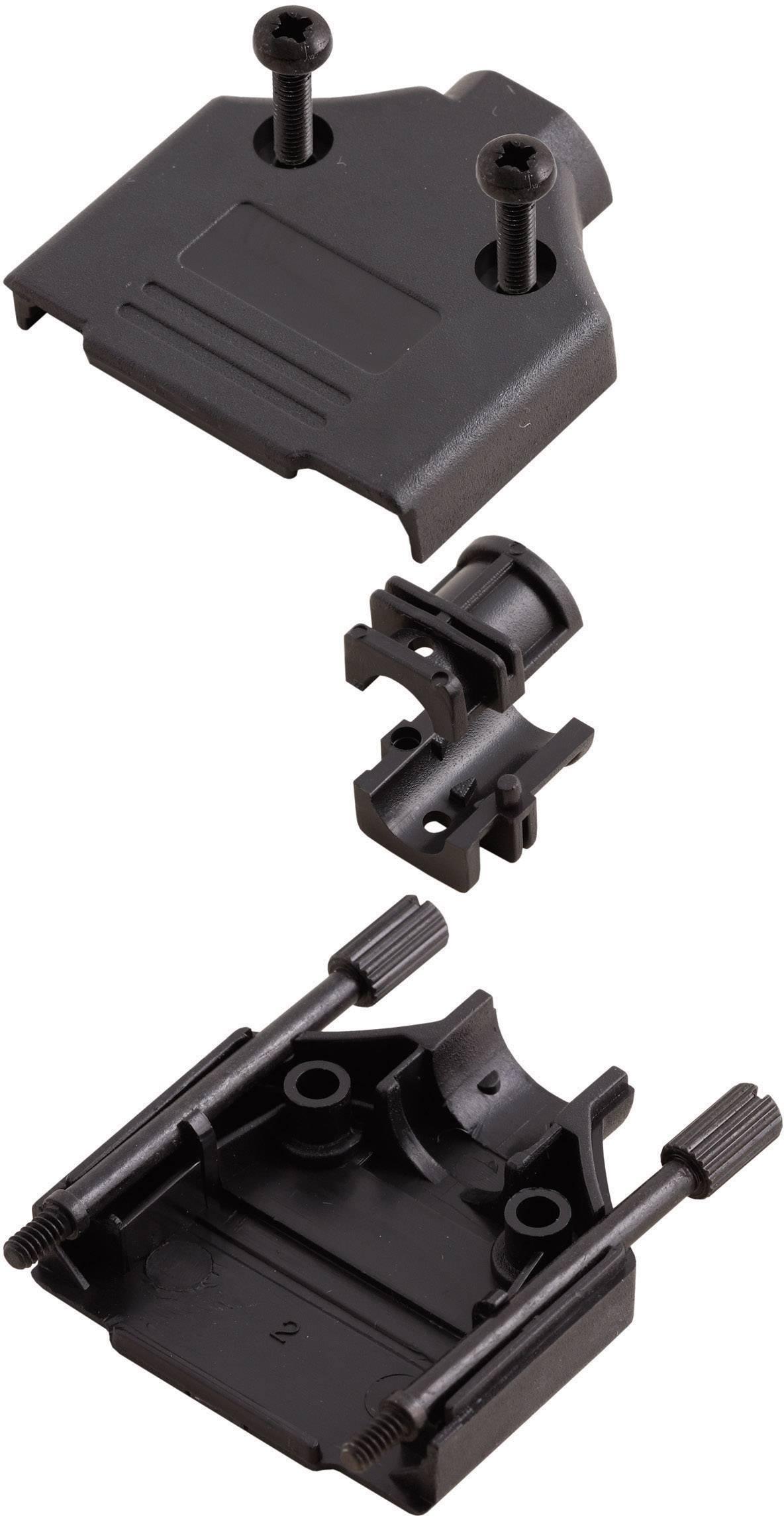 D-SUB púzdro MH Connectors MHDTPPK-25-BK-K 6560-0108-03, počet pinov: 25, plast, 180 °, čierna, 1 ks