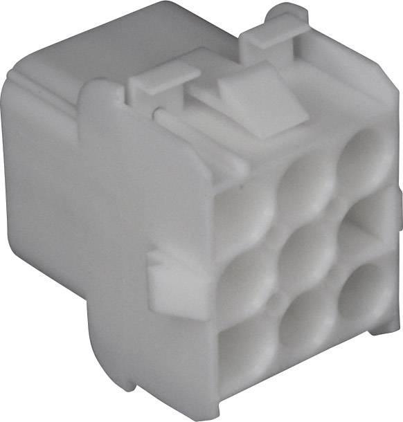 Zásuvkové púzdro na kábel TE Connectivity 350782-1, počet pólov 9, raster 6.35 mm, 1 ks